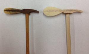 Steinway hamerkop oud en nieuw