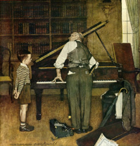 Pianostemmer Norman Rockwell
