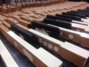 Steinway piano toetsen wood epoxy