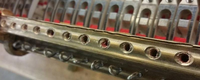 Gescheurde tubes steinway