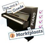 Hoe vind ik een goede piano op marktplaats?