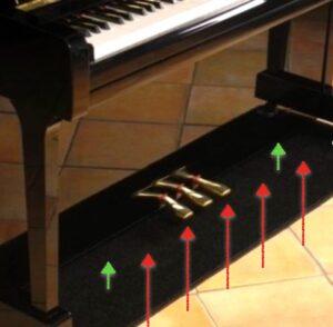 Pianocarpet maken